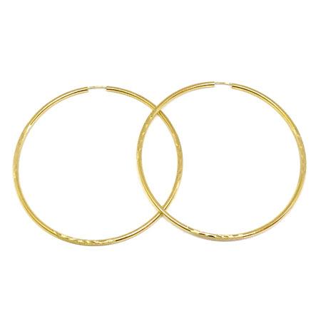 Diamond Cut Hoop Earrings 2 5mm 14k Yellow Gold Wire Lock