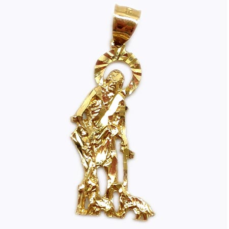 f355e1071f0 Saint Lazarus Pendant 14K Yellow Gold – Chic Jewelry Los Angeles ...