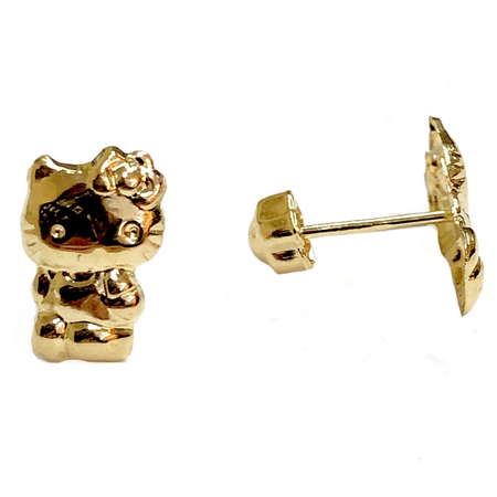 75f4e25b2 Very Cute Hello Kitty Baby Stud Earrings on 14K Yellow Gold. – Chic ...